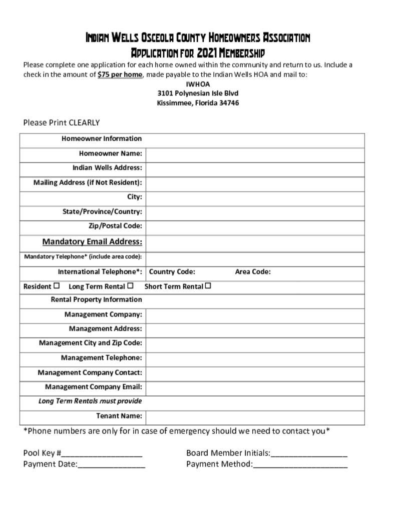thumbnail of 2021 HOA Membership Application